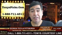 Pittsburgh Panthers vs. Georgia Tech Yellow Jackets Free Pick Prediction NCAA College Football Updated Odds Preview 10-25-2014