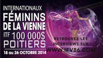 Internationaux Féminins de la Vienne 2014. Interview Nicole Melichar, 581 WTA, par Michaël Duranceau