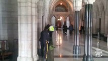 Shooting in Parliament building : Globe and Mail footage