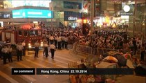 Anti-occupy demonstrators attempt to clear Hong Kong protests