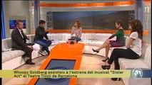 """TV3 - Els Matins - Whoopy Goldberg assisteix a l'estrena del musical """"Sister Act"""" al Tívoli"""