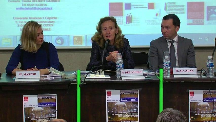 Début des travaux (propos introductifs), sous la présidence de Nicole Belloubet, membre du Conseil constitutionnel