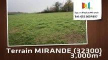 A vendre - Terrain - MIRANDE (32300) - 3 000m²