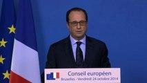 Conférence de presse lors du Conseil européen du 24 octobre 2014