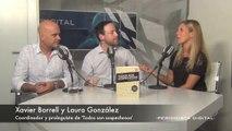 Xavier Borrell y Laura González, coordinador y prologuista de 'Todos son sospechosos'.
