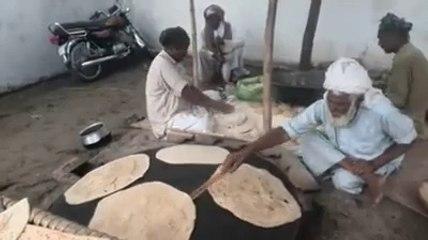 RotiBread Making in Cultural Wedding Ceremonies in Punjab,Pakistan