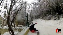 [+18 ~ Sexy Funny Girl]Sledding goes wrong - Fails World