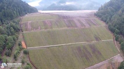 Iazul de decantare Tărnicioara (filmare aeriană)