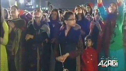 Pakistani TV Actress Laila Zuberi joins PTI at Azadi Dharna (October 25, 2014)