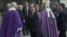 François Hollande aux obsèques de Christophe de Margerie