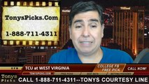 West Virginia Mountaineers vs. TCU Horned Frogs Free Pick Prediction NCAA College Football Odds Preview 11-1-2014