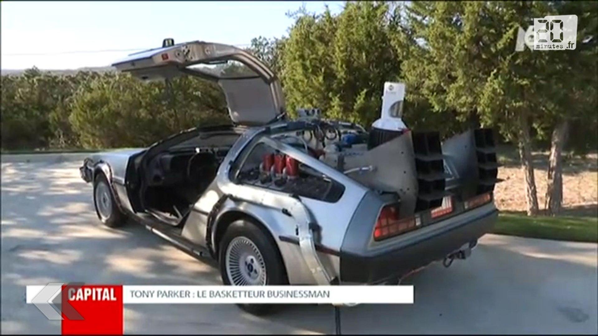 Tony Parker Fait Le Tour De Sa Propriete En Delorean Video Dailymotion