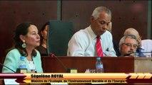 Intervention de Ségolène Royal à la Conférence internationale sur la biodiversité et le changement climatique, en Guadeloupe