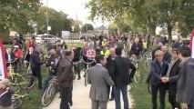 Fontenay Le Comte : inauguration de la voie verte cyclable le long de la Vendée