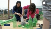 Sustainable habitat in Colombia: building homes with plastic bottles