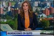 Lluvias provocaron inundaciones en Quito