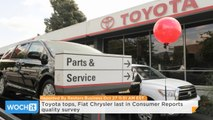 Toyota Tops, Fiat Chrysler Last In Consumer Reports Quality Survey