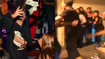 RAINING MONEY! Drake throws thousands of dollars on the ground | Storms in nightclub