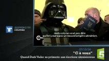 Zapping TV : en Ukraine, Dark Vador n'arrive pas à voter