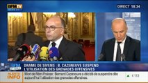 BFM Story: Décès de Rémi Fraisse: Bernard Cazeneuve suspend l'utilisation des grenades offensives (3/3) - 28/10