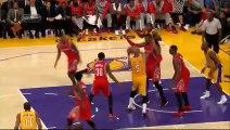 Kobe Bryant vs Dwight Howard - Kobe calls Dwight  soft  - Double Technical and Flagrant Foul!