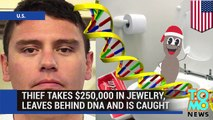 Dumb criminal - Albuquerque thief leaves DNA in the can and gets caught.
