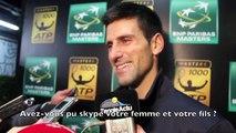 "BNPPM - Paris-Bercy 2014 - Novak Djokovic : ""Mon fils est très occupé"""