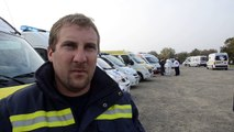 Vannes. Matthieu Le Sausse, président du CNSA du Morbihan, lors de la manifestation des ambulanciers