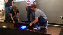Buzz Aldrin rides a hoverboard Autodesk