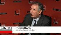 François Bayrou, invité du 7/9 sur France Inter - 291014