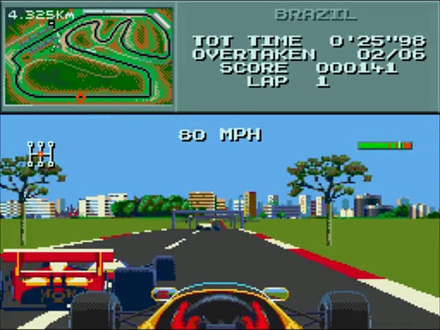 Formula One – Gameplay – megadrive