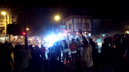 SF Giants win World Series - Supporters in the Mission