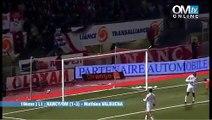 Nancy 1-3 OM : le but de Mathieu Valbuena (19e)
