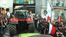 Manifestation des producteurs de lait à Bruxelles
