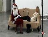 Shooting de Julie Taton avec le père Noël