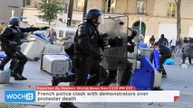 French Police Clash With Demonstrators Over Protester Death