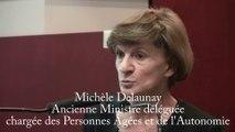 Michèle Delaunay, ancienne Ministre déléguée en charge des Personnes Âgées et de l'Autonomie - Programme d'action contenu dans le projet de loi pour l'autonomie des personnes âgées.