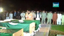 Wagah blast: funeral prayers of Rangers personnel offered
