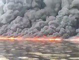 sea on fire amazing...............