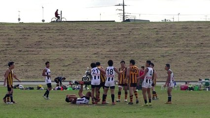 2014/11/03 MAGPIES vs HAWKS Q3 駒澤マグパイズ対イースタン・ホークス - AFL Japan Top League