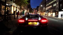 Lamborghini Aventador prend feu (Londres)