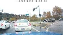 Une voiture Nissan 350z fait un 360 sur l'autoroute