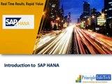 SAP HANA  Introduction to SAP HANA   SAP HANA Database