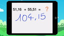 Addition de décimaux 2 - vidéo 10