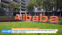 Alibaba Revenues Surge 54% in First Earnings Report as a Public Company