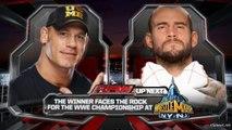 John Cena vs CM Punk, WWE Monday Night RAW 25.02.2013