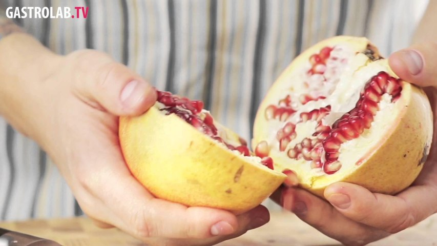eng how to deseed a pomegranate quickly