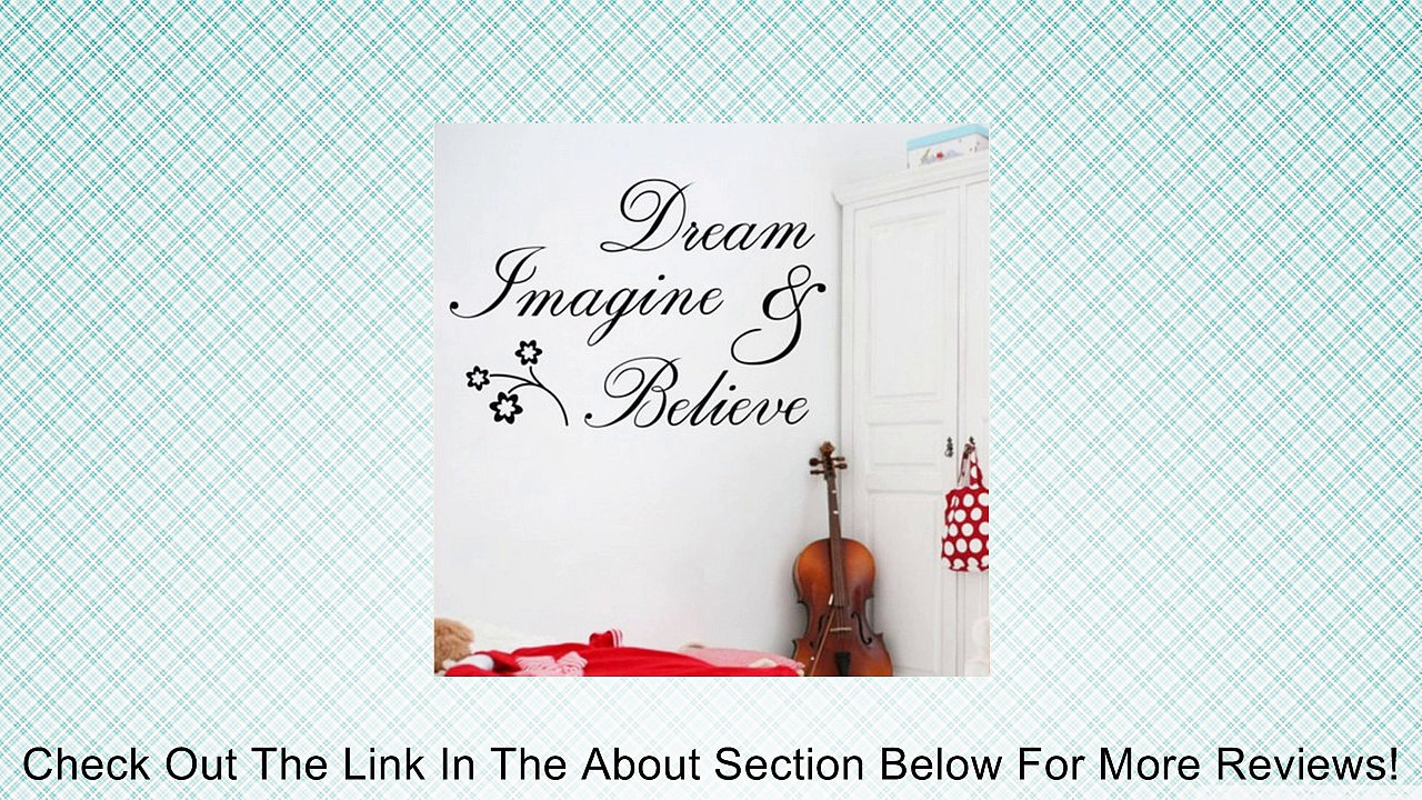 Dream Imagine Believe Wall Quote Sticker Art Decal Vinyl Baby Room Decor Mural Review