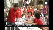 Counter-movement in Hong Kong wants public order restored