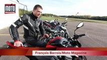 Roadsters sportifs mid size : quelle est la mieux équipée ! Ducati Monster 821, Triumph Street Triple, Kawasaki Z 800, Yamaha MT09